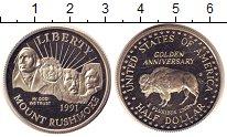 Изображение Монеты США 1/2 доллара 1991 Медно-никель Proof Гора Рашмор. Портрет