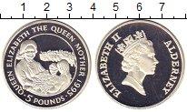 Изображение Монеты Великобритания Олдерни 5 фунтов 1995 Серебро Proof