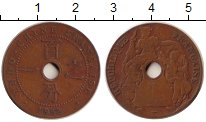 Изображение Монеты Франция Индокитай 1 сантим 1922 Бронза XF