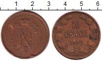 Изображение Монеты 1894 – 1917 Николай II 10 пенни 1912 Медь