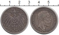 Изображение Монеты Германия Шварцбург-Зондерхаузен 2 марки 1896 Серебро XF