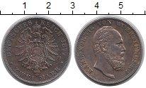 Изображение Монеты Вюртемберг 2 марки 1877 Серебро XF Орёл имперский - кор