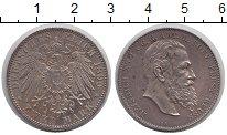 Изображение Монеты Рейсс 2 марки 1899 Серебро XF Второй райх, имперск
