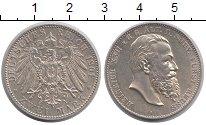 Изображение Монеты Рейсс 2 марки 1901 Серебро XF Второй райх, имперск