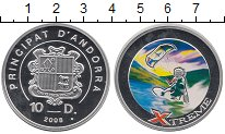 Изображение Монеты Андорра 10 динерс 2008 Серебро Proof Цифровая  печать.  X