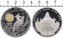 Изображение Монеты Казахстан 100 тенге 2008 Серебро Proof Чингиз Хан