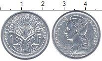Изображение Монеты Сомали 1 франк 1959 Алюминий XF- Французская колония
