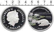 Изображение Монеты Австралия 1 доллар 2008 Серебро Proof Открытие Австралии.К