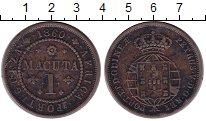Изображение Монеты Ангола 1 макута 1860 Медь VF