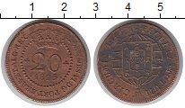 Изображение Монеты Сан-Томе и Принсипи 20 рейс 1825 Медь VF Португальская колони