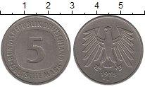 Изображение Монеты ФРГ 5 марок 1975 Медно-никель XF