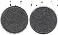 Изображение Монеты Бельгия 25 сентим 1915 Цинк XF