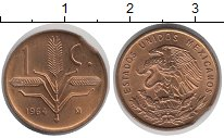 Изображение Монеты Мексика 1 сентаво 1964 Бронза UNC-