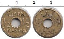 Изображение Монеты Ливан 1/2 пиастра 1941 Латунь XF