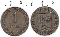 Изображение Монеты Мозамбик 1 эскудо 1936 Медно-никель XF
