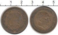 Изображение Монеты Испания 2 1/2 песеты 1953 Латунь XF герб - правый профил