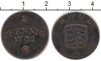Изображение Монеты Германия Саксен-Веймар-Эйзенах 1 пфенниг 1792 Медь VF+