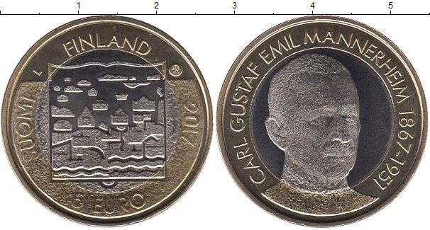 Картинка Мелочь Финляндия 5 евро Биметалл 2017
