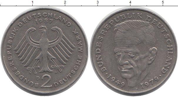 Картинка Монеты ФРГ 2 марки Медно-никель 1987