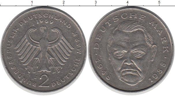 Картинка Монеты ФРГ 2 марки Медно-никель 1989