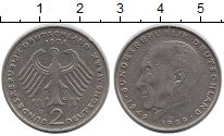Изображение Монеты ФРГ 2 марки 1974 Медно-никель XF