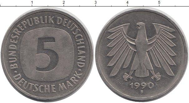 Картинка Монеты ФРГ 5 марок Медно-никель 1990