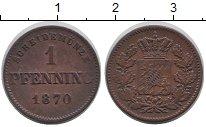 Изображение Монеты Германия Бавария 1 пфенниг 1870 Медь XF