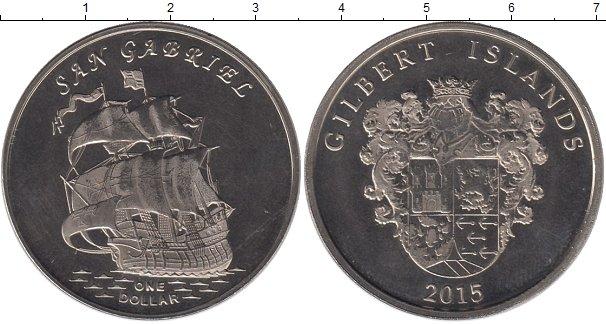 Картинка Мелочь Кирибати 1 доллар Медно-никель 2015