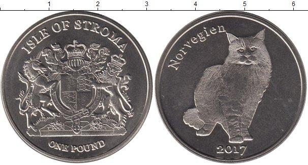 Картинка Мелочь Шотландия 1 фунт Медно-никель 2017