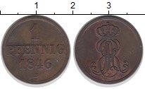 Изображение Монеты Ганновер 1 пфенниг 1846 Медь XF-