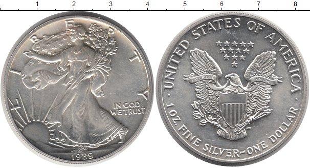 Заказать дешево монету сша 1 доллар 1989 года состояние unc..