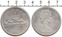 Изображение Монеты Канада 1 доллар 1965 Серебро XF-