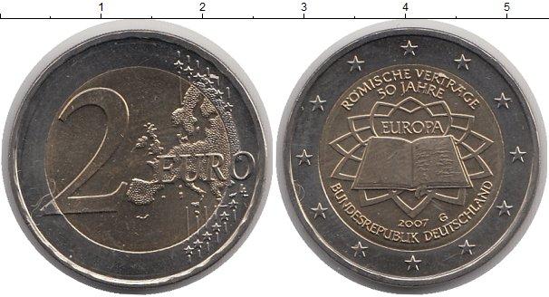 Картинка Монеты Германия 2 евро Биметалл 2007