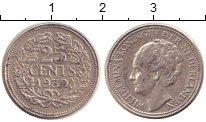 Изображение Монеты Нидерланды 25 центов 1939 Серебро XF