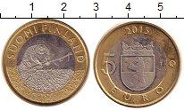 Изображение Монеты Финляндия 5 евро 2015 Биметалл UNC- Сатакунта