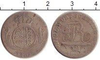 Изображение Монеты Германия Вюртемберг 6 крейцеров 1809 Серебро VF