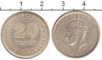Изображение Монеты Малайя 20 центов 1939 Серебро XF+ Георг VI