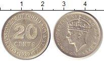 Изображение Монеты Великобритания Малайя 20 центов 1939 Серебро XF+