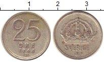 Изображение Монеты Швеция 25 эре 1948 Серебро XF-