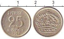 Изображение Монеты Швеция 25 эре 1957 Серебро XF-
