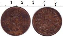 Изображение Монеты Норвегия 5 эре 1878 Бронза XF-