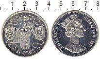 Изображение Монеты Гибралтар 21 экю 1995 Серебро Proof