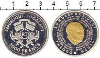 Изображение Монеты Того 1000 франков 0 Серебро Proof-
