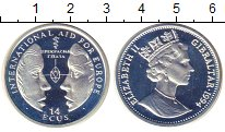 Изображение Монеты Великобритания Гибралтар 14 экю 1994 Серебро Proof