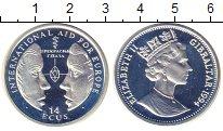 Изображение Монеты Гибралтар 14 экю 1994 Серебро Proof Елизавета II.  Всеми