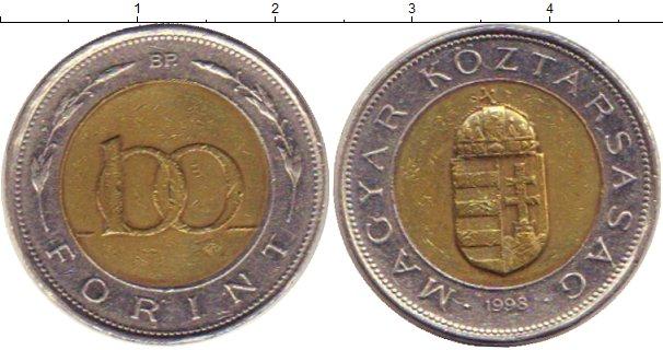 Картинка Барахолка Венгрия 100 форинтов Биметалл 1998