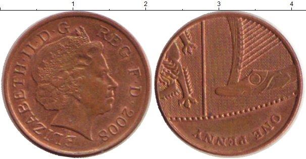 Картинка Дешевые монеты Великобритания 1 пенни Медь 2008
