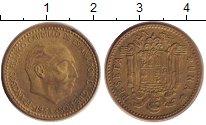 Изображение Дешевые монеты Испания 1 песета 1953 Медь VF Франко