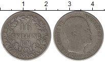 Изображение Монеты Дания 16 скиллингов 1857 Серебро VF