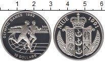 Изображение Монеты Ниуэ 10 долларов 1991 Серебро Proof Олимпийские игры 199